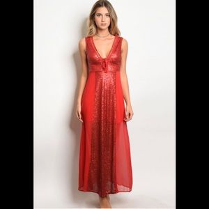 Dresses & Skirts - Red Sequence Dress